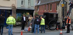 Yannick Bisson filming Murdoch Mysteries