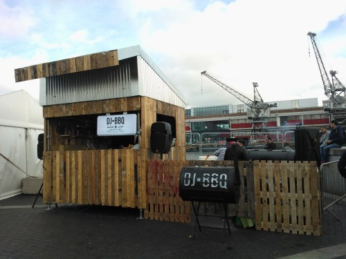 some bbq preparations at Grillstock