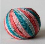 Self striping sock yarn from Eaden Yarns